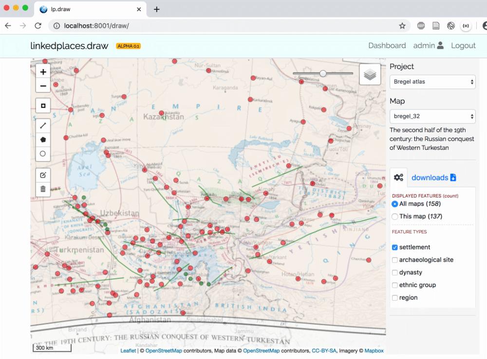 linkedplaces.draw app (June 2020 alpha)
